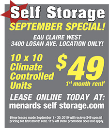 Menards Self Storage in Eau Claire, Wisconsin